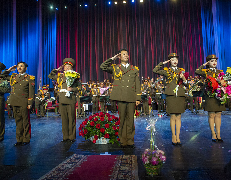 Concert of the military band of the Korean People's Army of