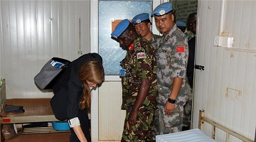 UN Security Council delegation visits Chinese peacekeepers in South Sudan