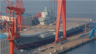 China prepares to launch first indigenously built aircraft carrier