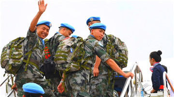 16th Chinese peacekeeping force to Lebanon sets out