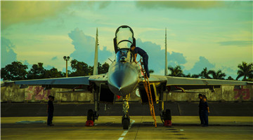 J-11 fighter jets receive phase maintenance