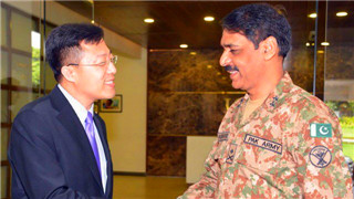 Chinese envoy lauds ISPR's role in promoting military-to-military ties