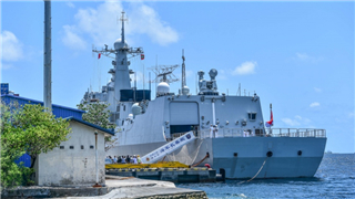 Three warships of Chinese navy on friendly visit to Maldives