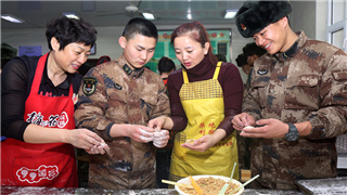 Dumplings draw soldiers, civilians together