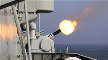 Frigate Rizhao in its inaugural live-fire training