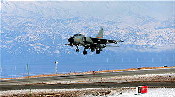 JH-7 fighter bomber takes off for a sortie