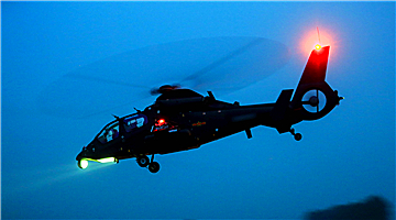 Z-19 attack helicopters' night flight