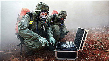 Chemical defense soldiers in scenario-driven operations