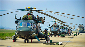 Helicopters receive power-on inspections