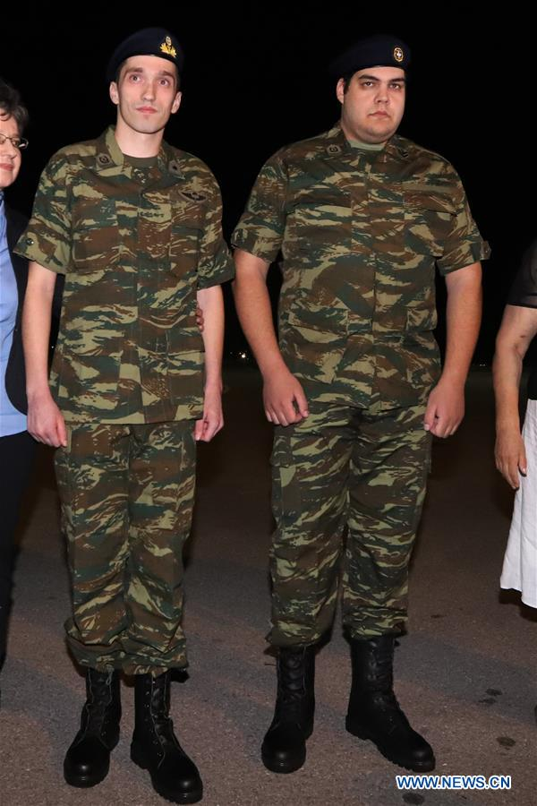 Two servicemen released from Turkey return to Greece - China