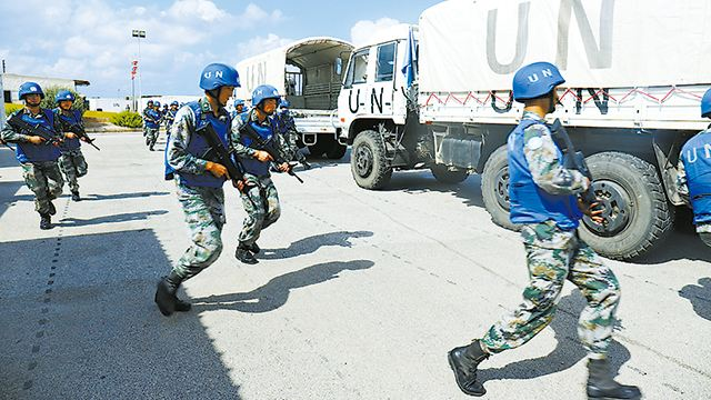 Chinese peacekeepers to Lebanon prepare for multinational exercise