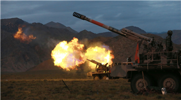 Live-fire training in Qinghai-Xizang Plateau