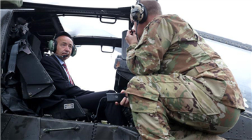 Croatian defence minister visits U.S. military helicopter landing in Crotia