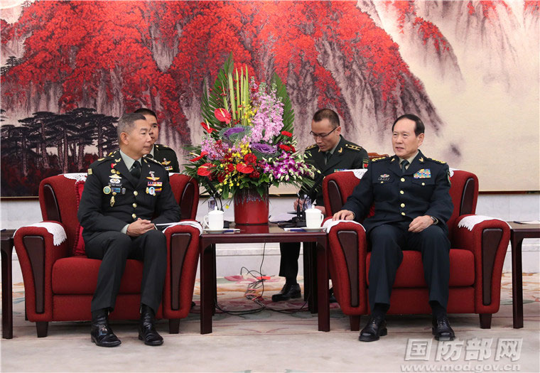 Chinese defense minister meets with Royal Thai Army