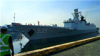 Chinese naval escort fleet pays friendly visit to Philippines