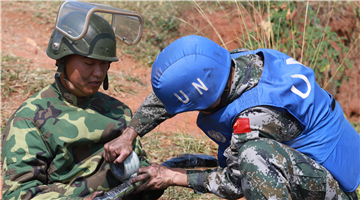 Chinese peacekeeping engineers to DRC complete ammunition disposal task