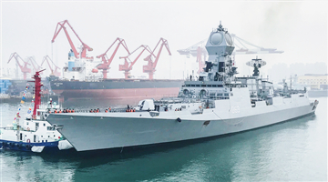 16 naval vessels assemble in Qingdao for PLA Navy's 70th anniversary