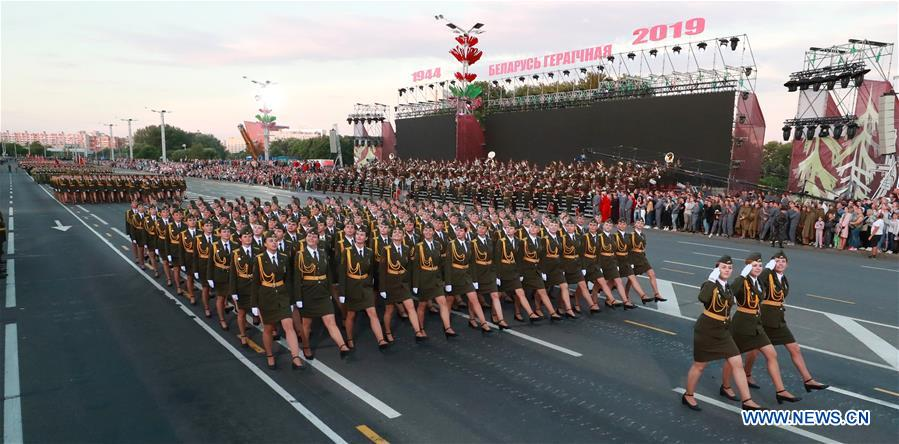 Military parade rehearsal for Independence Day of Belarus