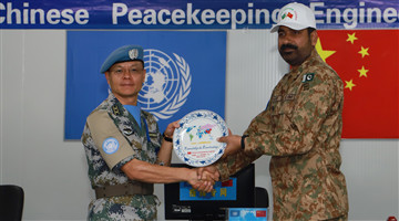 New commander of MONUSCO Southern Sector inspects Chinese peacekeeping engineer detachment to DR Congo
