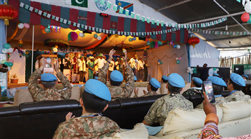 Chinese peacekeeping contingent attends Pakistan Independence Day celebration