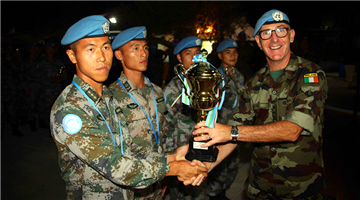 Chinese peacekeepers harvest trophies in UNIFIL military obstacle competition