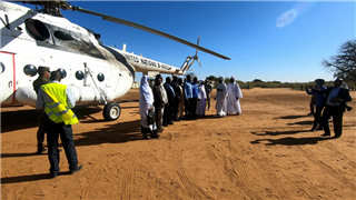 China's peacekeeping helicopters complete missions in troubled area, Darfur