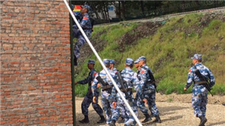 Chinese Marines had obstacle course training at Gornostay, Pacific Fleet