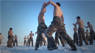 China's Armed Police Force training in -31 ℃ weather