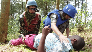 China-Nepal peacekeepers organize joint defense drills in DRC