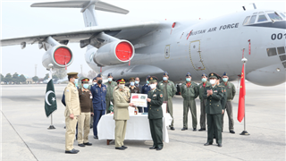 Pakistan holds handover ceremony receiving COVID-19 vaccines donated by Chinese military